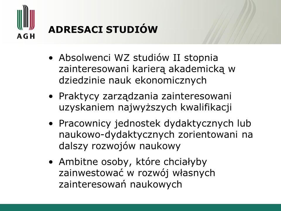 FORMY STUDIÓW DOKTORANCKICH Stacjonarna – nastawiona na zintegrowanie doktorantów z działalnością Wydziału, zwiększone obciążenie dydaktyczne, aktywny udział w życiu katedr.
