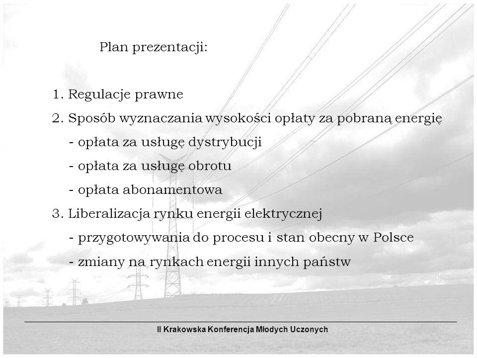 Plan prezentacji: 1.Regulacje prawne 2.