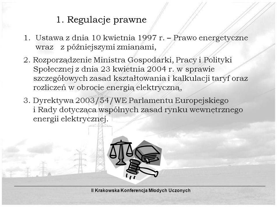 1.Regulacje prawne 1. Ustawa z dnia 10 kwietnia 1997 r.