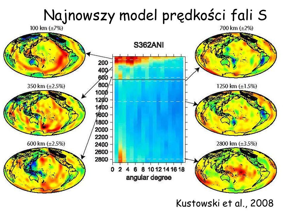 Kustowski et al., 2008 Najnowszy model prędkości fali S