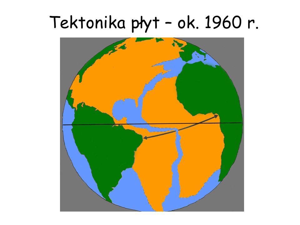 Tektonika płyt – ok. 1960 r.