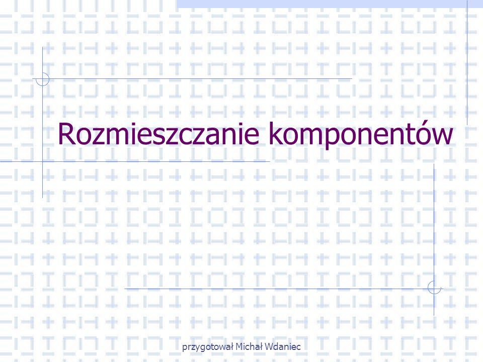 przygotował Michał Wdaniec Rozmieszczanie komponentów