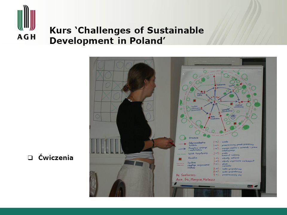 Ćwiczenia Kurs Challenges of Sustainable Development in Poland