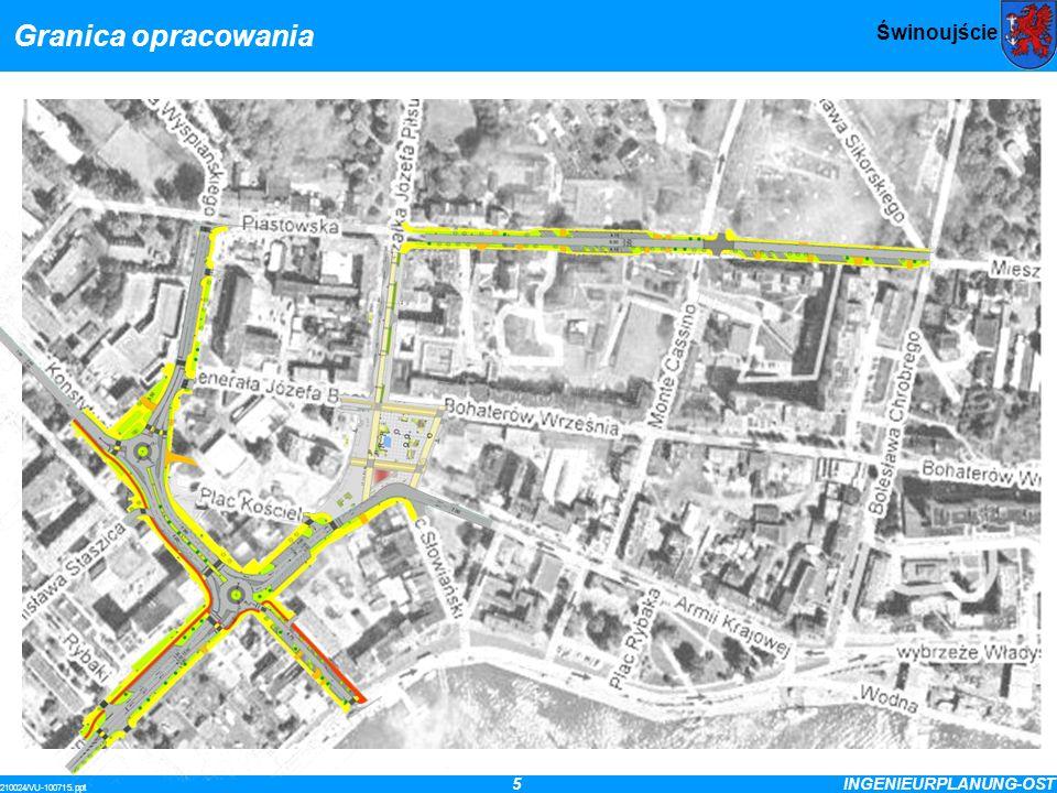 5INGENIEURPLANUNG-OST 210024/VU-100715.ppt Świnoujście Granica opracowania