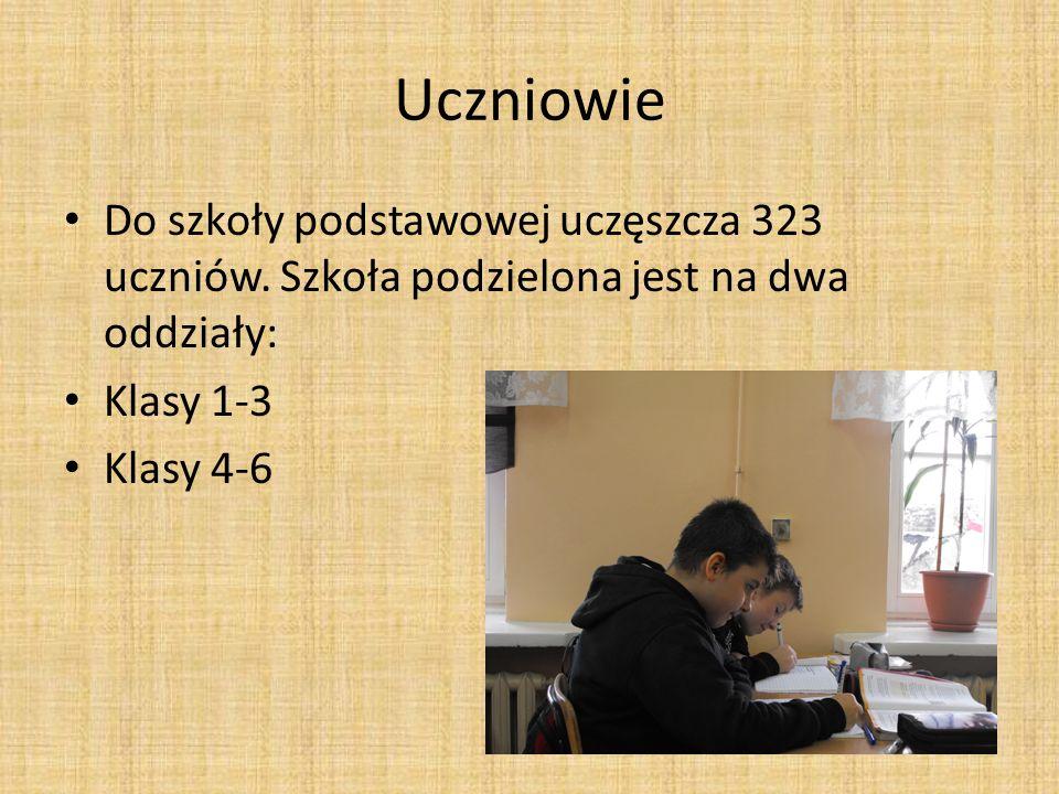 Uczniowie Do szkoły podstawowej uczęszcza 323 uczniów. Szkoła podzielona jest na dwa oddziały: Klasy 1-3 Klasy 4-6