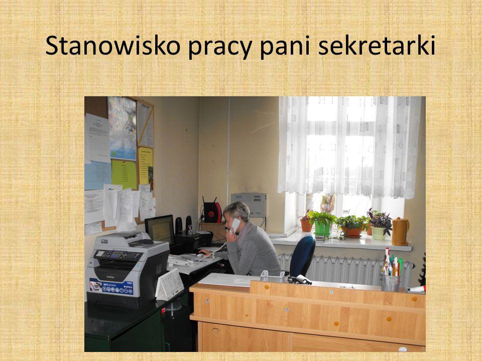 Stanowisko pracy pani sekretarki