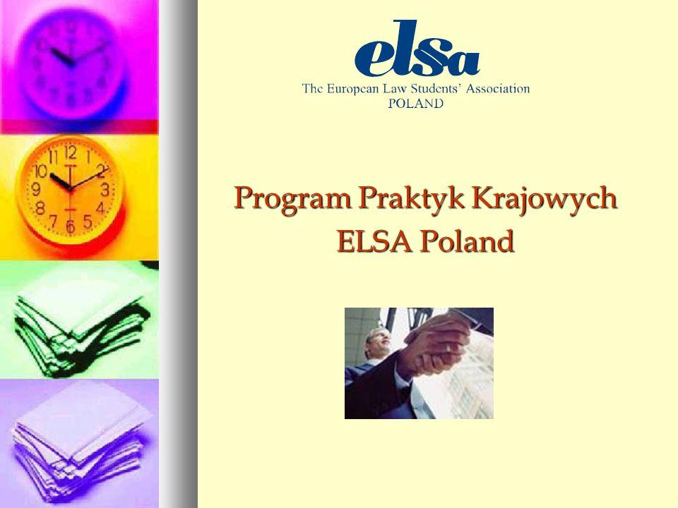 Program Praktyk Krajowych ELSA Poland