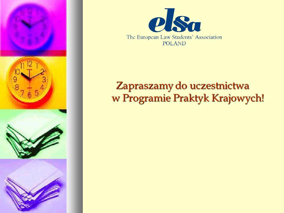 Zapraszamy do uczestnictwa w Programie Praktyk Krajowych!
