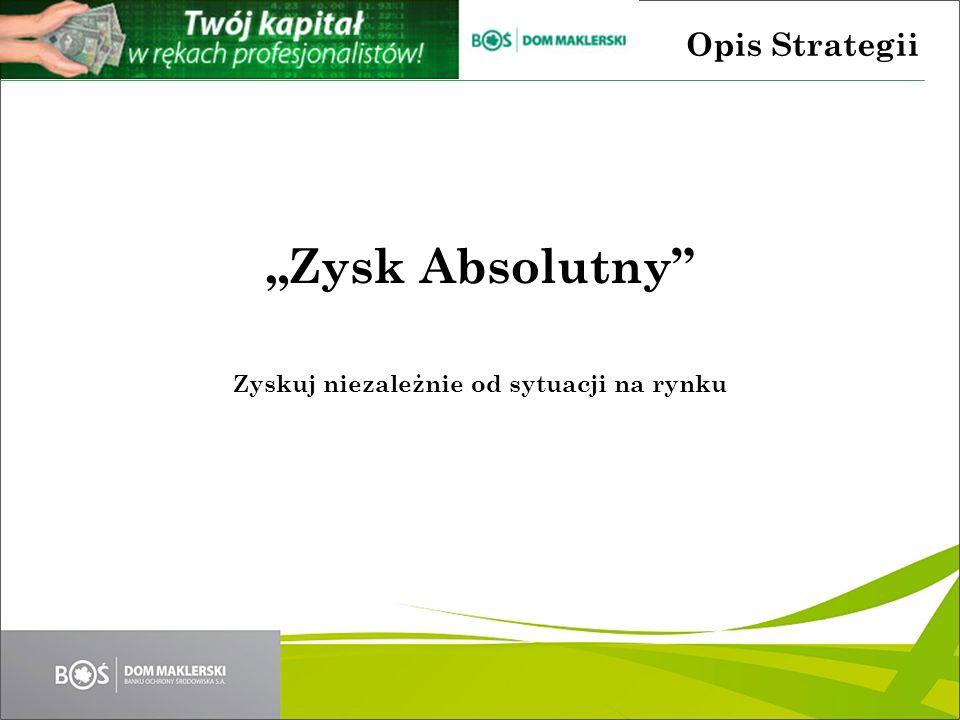 Zysk Absolutny Zyskuj niezależnie od sytuacji na rynku Opis Strategii
