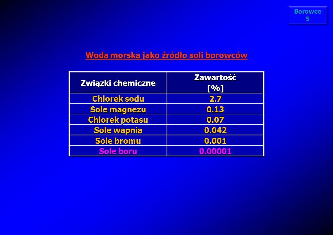 Właściwości chemiczne borowców – reakcje pierwiastków z siarką Wszystkie borowce reagują w podwyższonej temperaturze z siarką, tworząc typowe siarczki Me 2 S 3 : 2Me + 3S Me 2 S 3 (Me=B, Al, Ga, In, Tl) Znane są podwójne siarczki glinu z innymi metalami, o wzorze MeAl 2 S 4, gdzie Me=Mg, Cr, Mn, Fe, Zn i Pb Typowych wielosiarczków, takich jak wszystkie litowce i niektóre berylowce, borowce nie tworzą.