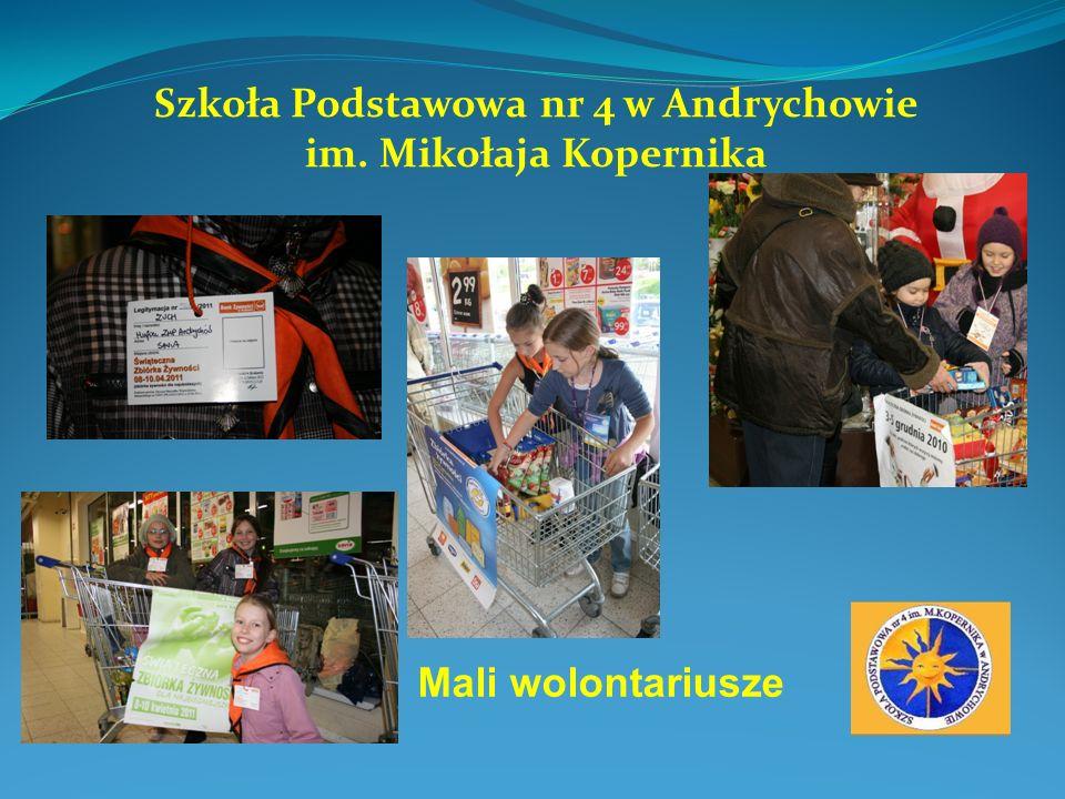 Szkoła Podstawowa nr 4 w Andrychowie im. Mikołaja Kopernika Mali wolontariusze