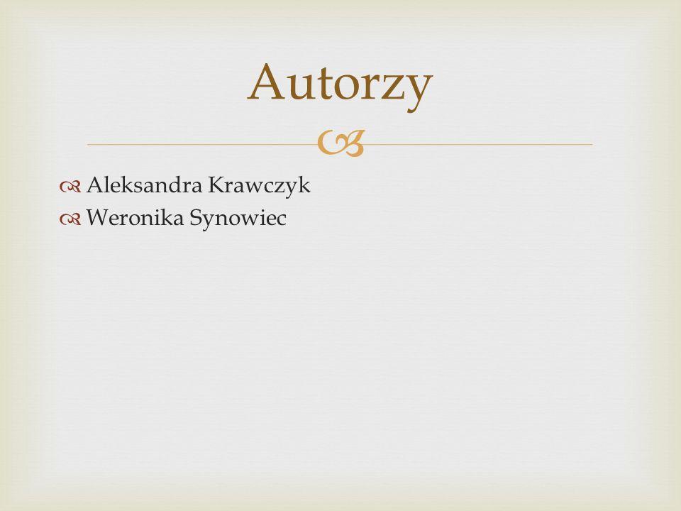 Aleksandra Krawczyk Weronika Synowiec Autorzy