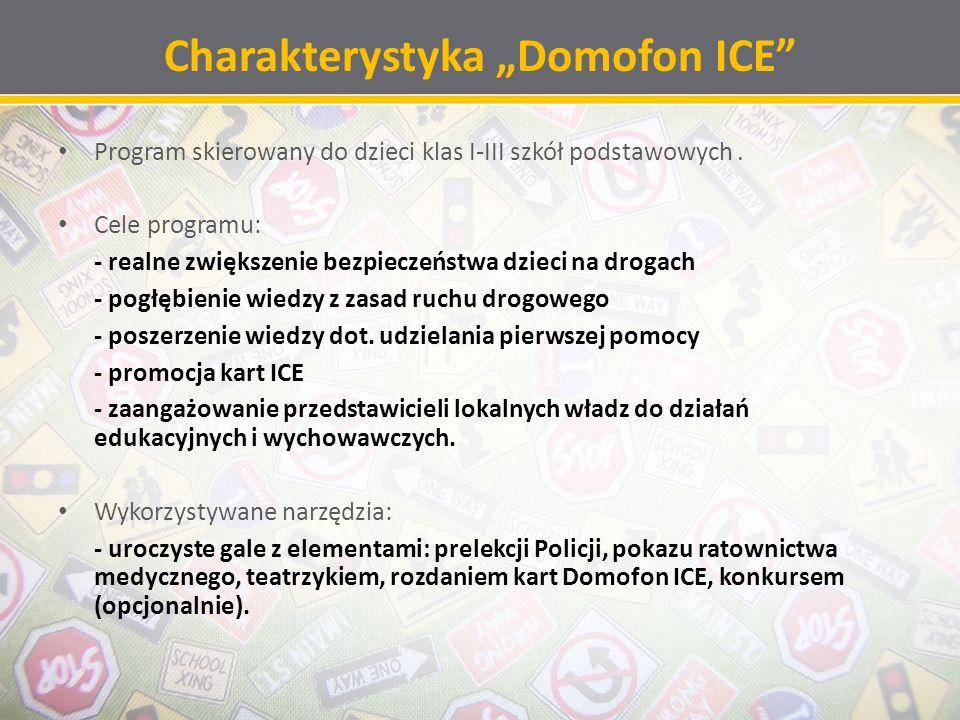 Karty ICE – najważniejszy element programu Promocja kart w standardzie ICE to jeden z najważniejszych celów programu.