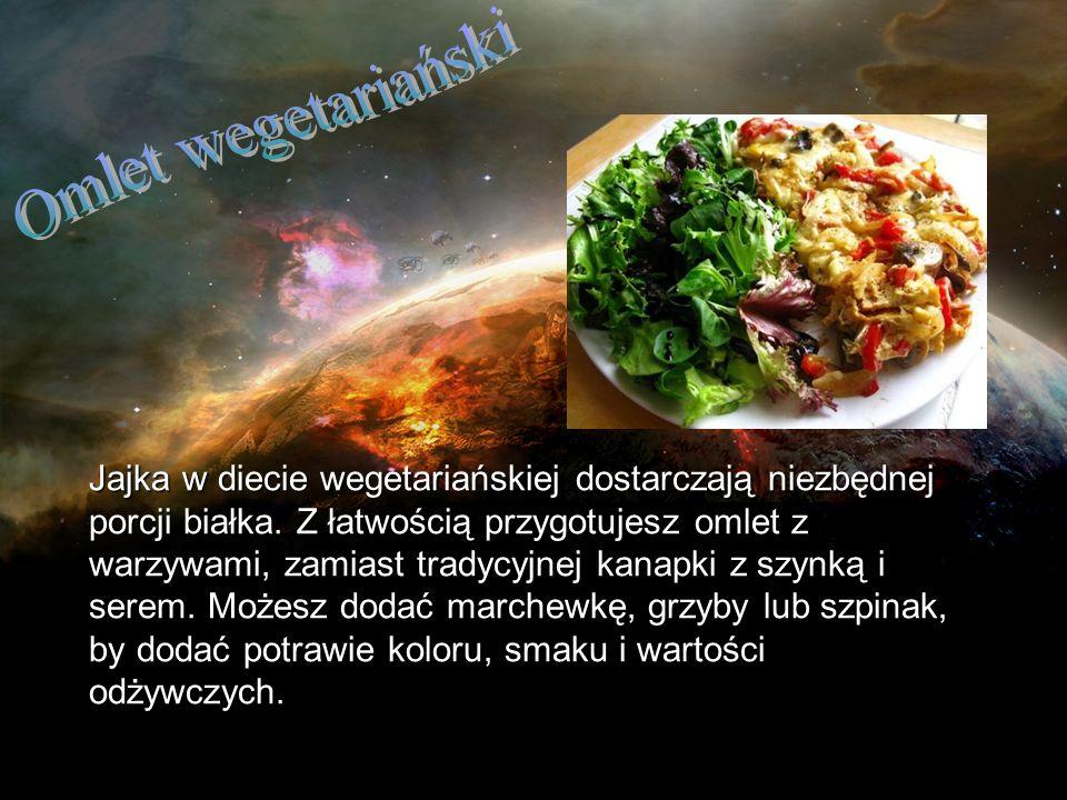 Jajka w diecie wegetariańskiej dostarczają niezbędnej porcji białka. Z łatwością przygotujesz omlet z warzywami, zamiast tradycyjnej kanapki z szynką