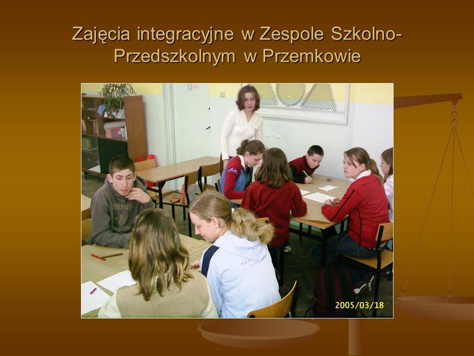Zajęcia integracyjne w Zespole Szkolno- Przedszkolnym w Przemkowie