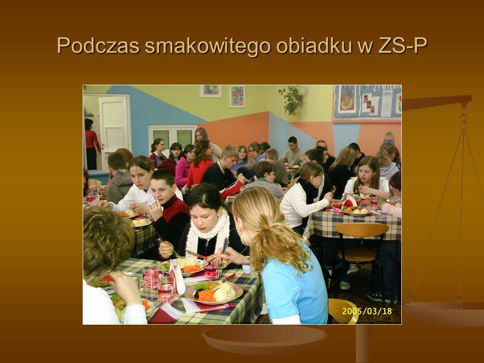 Podczas smakowitego obiadku w ZS-P
