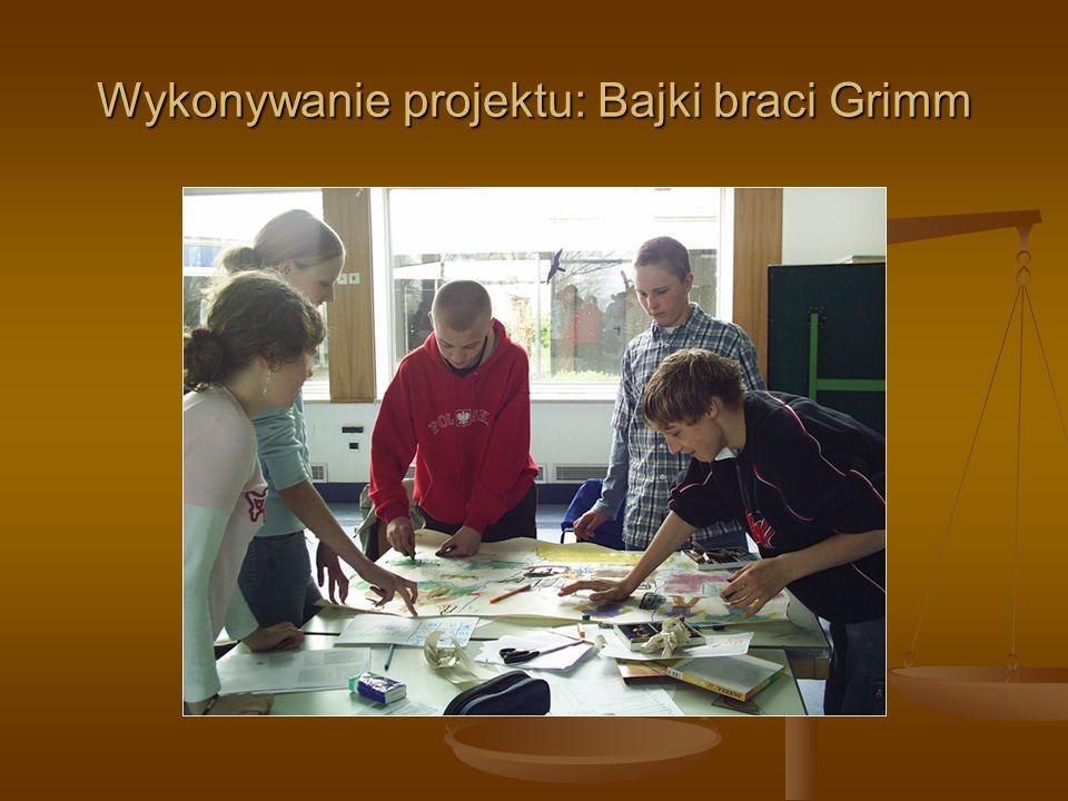 Wykonywanie projektu: Bajki braci Grimm