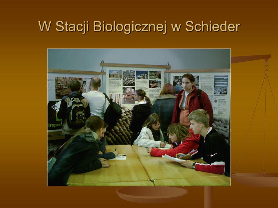 W Stacji Biologicznej w Schieder
