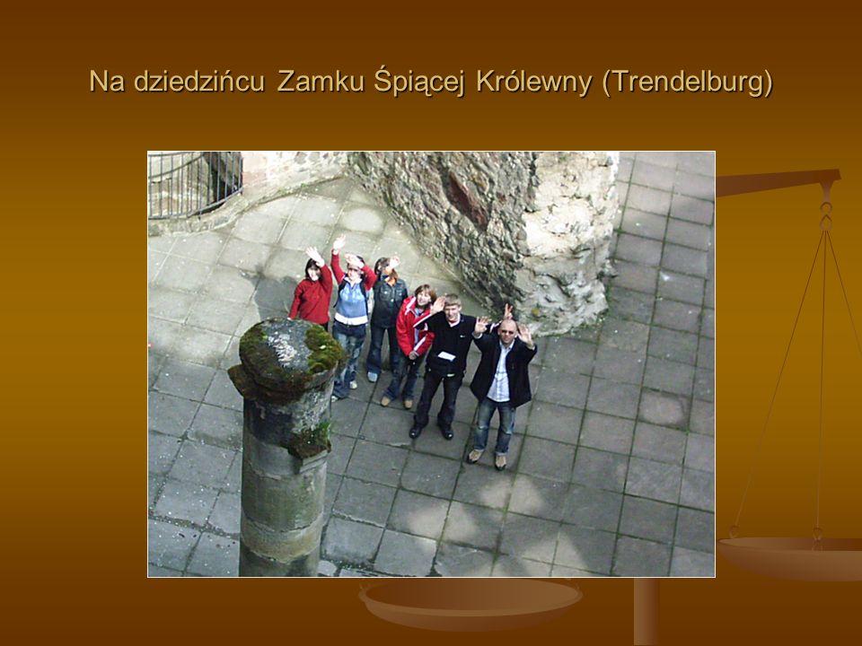 Na dziedzińcu Zamku Śpiącej Królewny (Trendelburg)