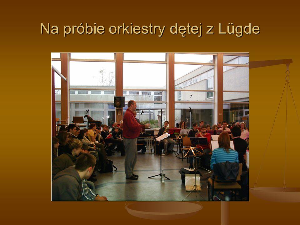 Na próbie orkiestry dętej z Lügde