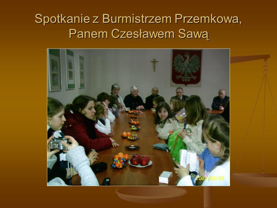 Spotkanie z Burmistrzem Przemkowa, Panem Czesławem Sawą