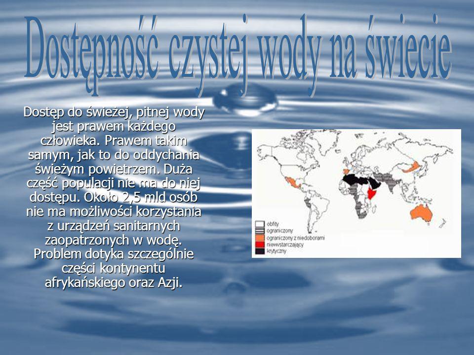 Dostęp do świeżej, pitnej wody jest prawem każdego człowieka.