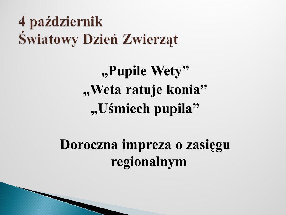 Pupile Wety Weta ratuje konia Uśmiech pupila Doroczna impreza o zasięgu regionalnym