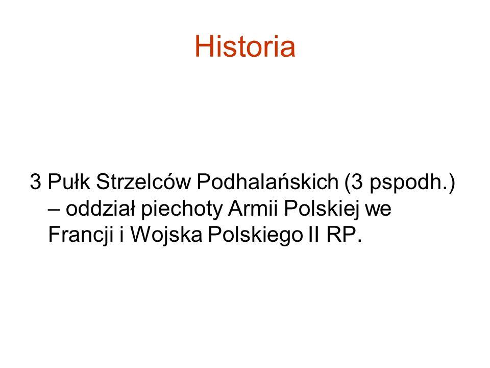 Historia 3 Pułk Strzelców Podhalańskich (3 pspodh.) – oddział piechoty Armii Polskiej we Francji i Wojska Polskiego II RP.
