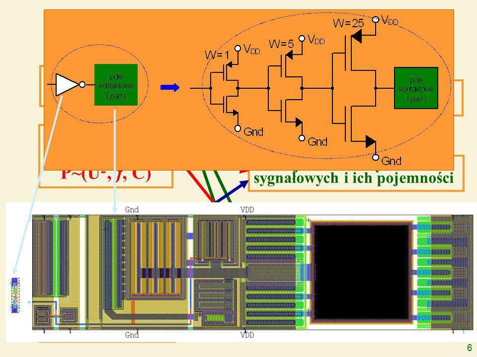 6 Zalety systemów jednoukładowych miniaturyzacja i niezawodność obniżenie poboru mocy P~(U 2, f, C) obniżenie kosztów produkcji zwiększenie częstotliwości zegara f~(1/C) zmniejszenie liczby osobnych układów scalonych jednolity cykl procesów produkcyjnych zmniejszenie liczby linii sygnałowych i ich pojemności eliminacja wielu buforów I/O