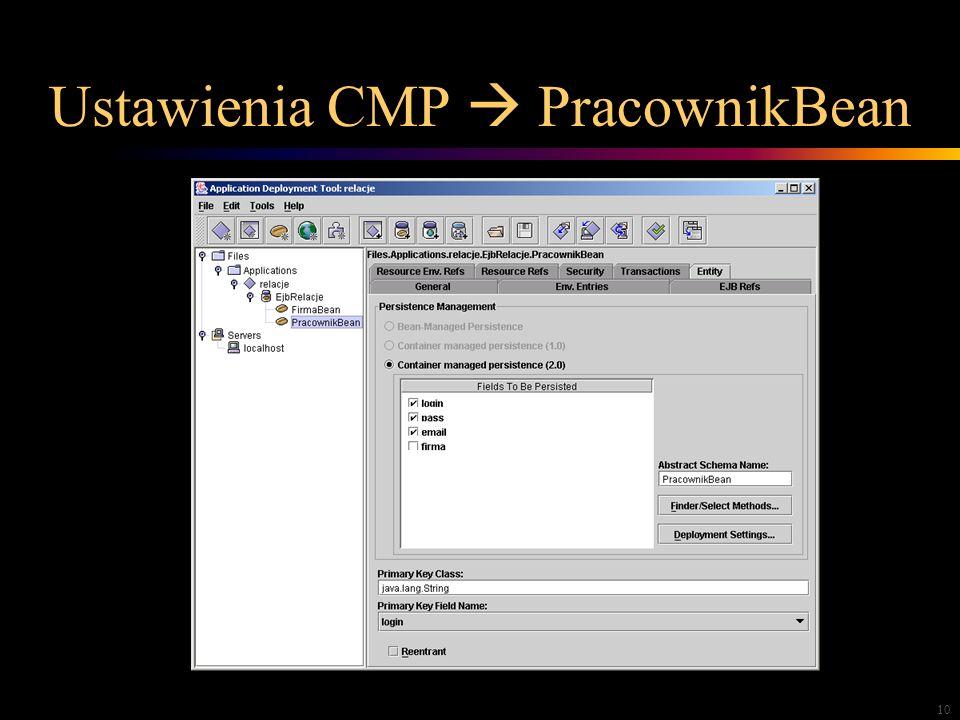 10 Ustawienia CMP PracownikBean