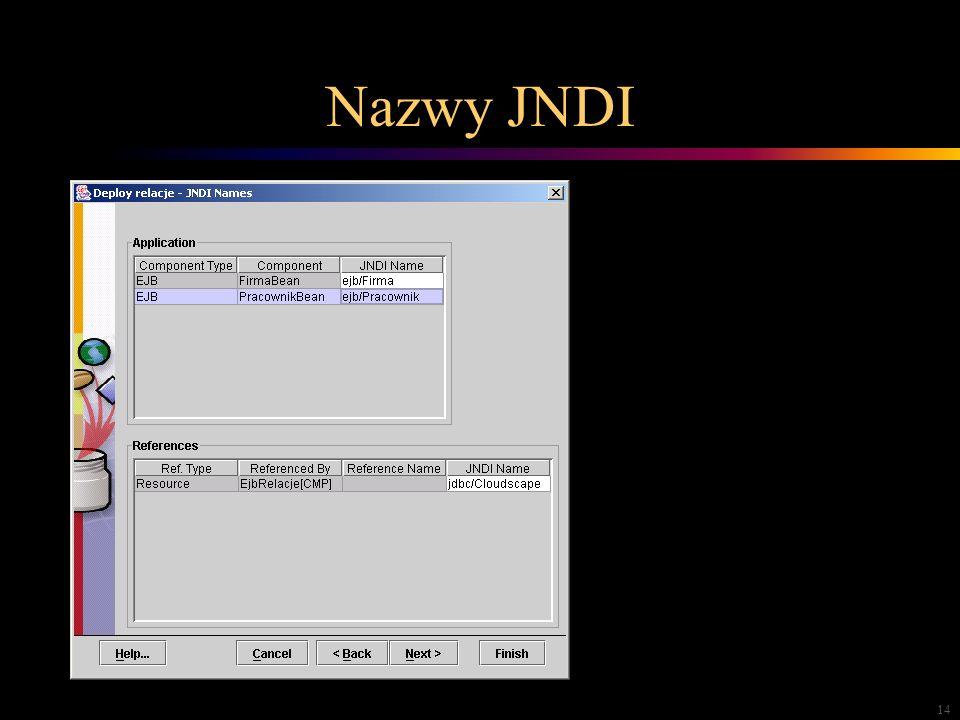 14 Nazwy JNDI