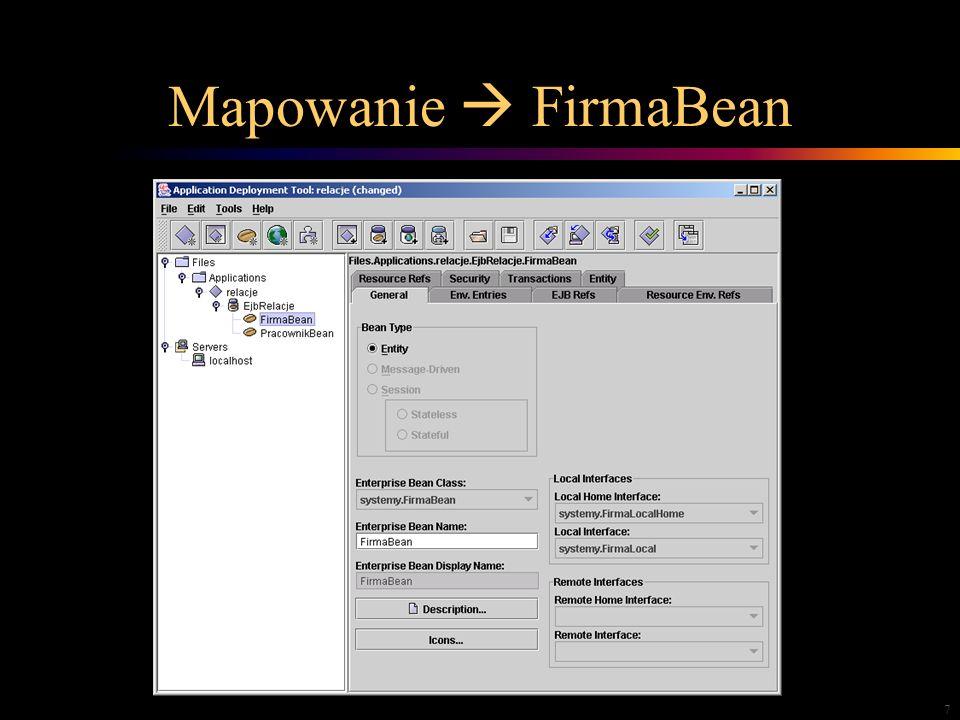 7 Mapowanie FirmaBean