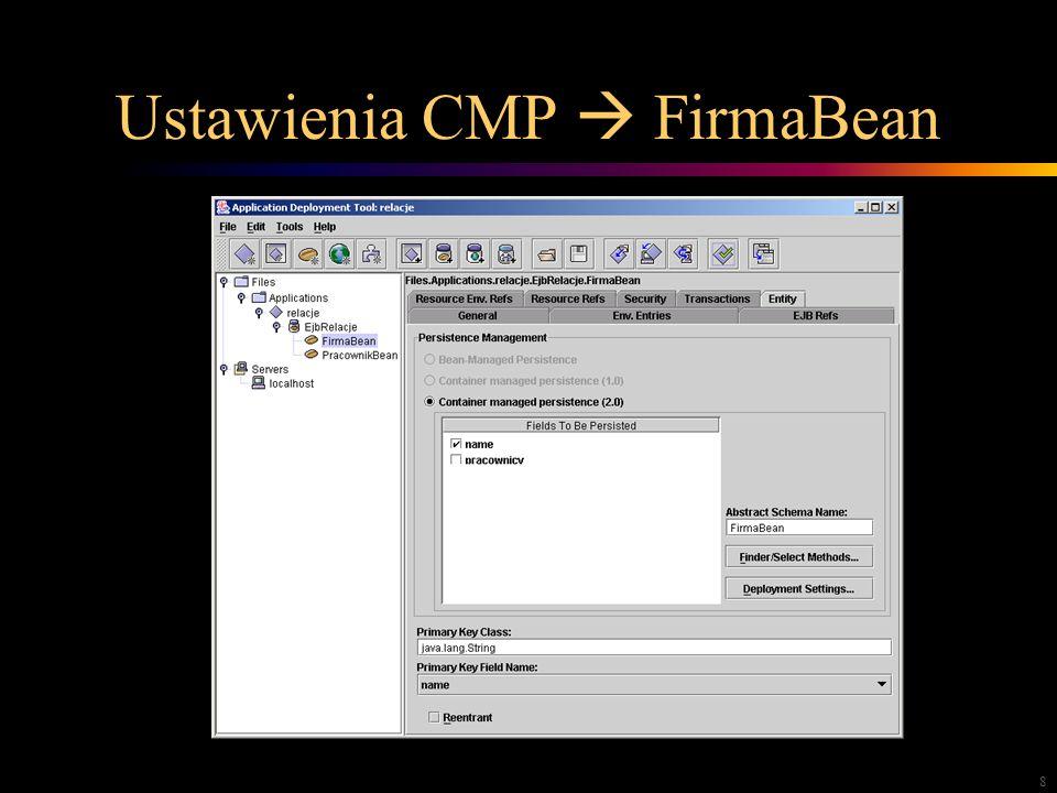8 Ustawienia CMP FirmaBean