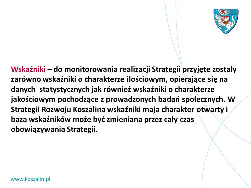 Wskaźniki – do monitorowania realizacji Strategii przyjęte zostały zarówno wskaźniki o charakterze ilościowym, opierające się na danych statystycznych