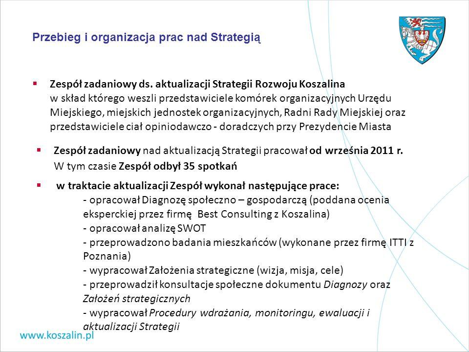 Zespół zadaniowy ds. aktualizacji Strategii Rozwoju Koszalina w skład którego weszli przedstawiciele komórek organizacyjnych Urzędu Miejskiego, miejsk
