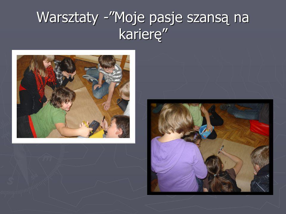 Warsztaty -Moje pasje szansą na karierę