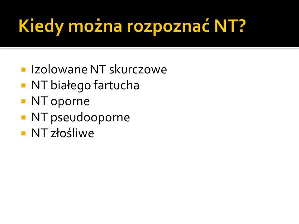 Izolowane NT skurczowe NT białego fartucha NT oporne NT pseudooporne NT złośliwe
