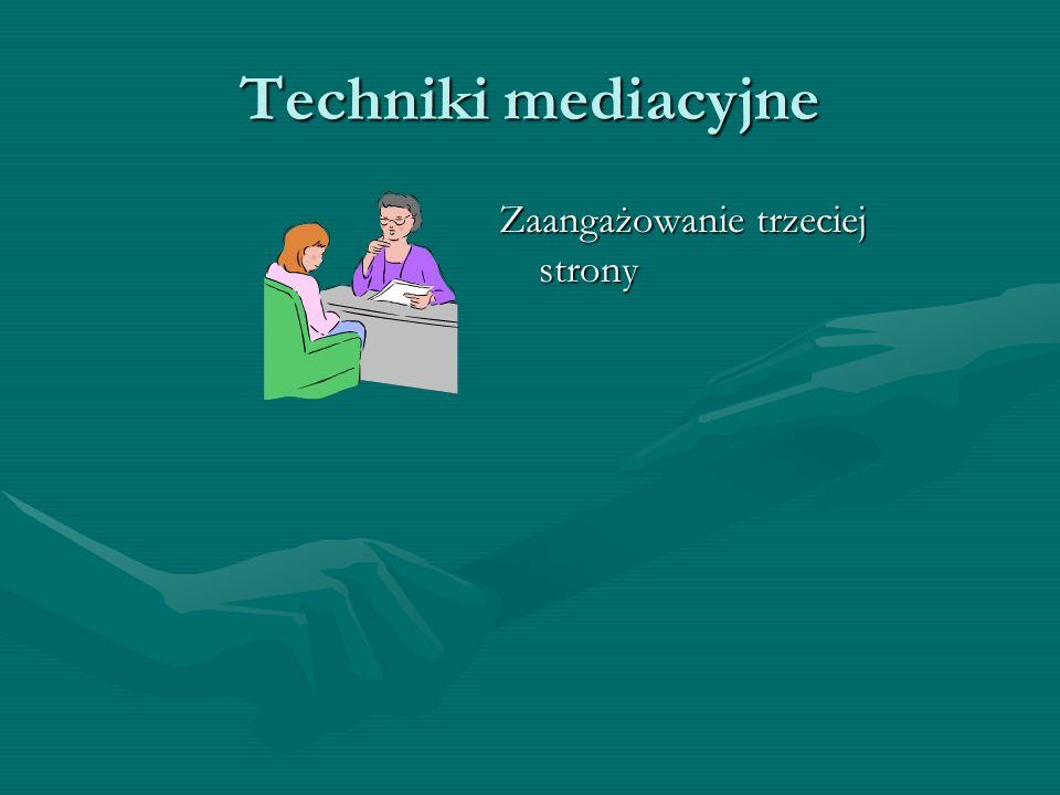 Techniki mediacyjne Zaangażowanie trzeciej strony