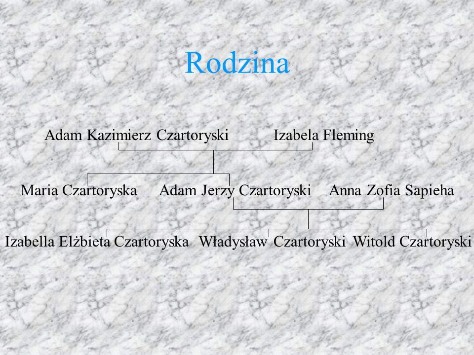 Rodzina Adam Kazimierz CzartoryskiIzabela Fleming Anna Zofia SapiehaAdam Jerzy Czartoryski Witold CzartoryskiWładysław CzartoryskiIzabella Elżbieta Cz