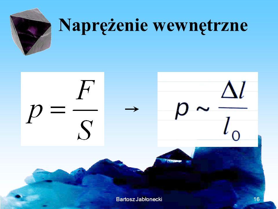 Bartosz Jabłonecki16 Naprężenie wewnętrzne