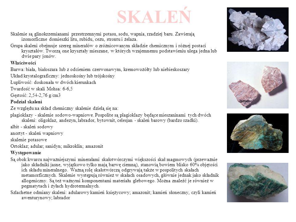 ANDEZYT Andezyt - skała magmowa (wylewna) o strukturze porfirowej o odczynie obojętnym.