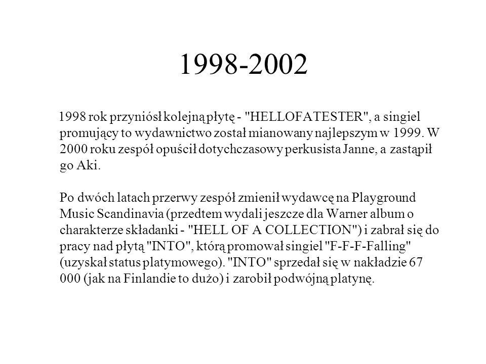 1998-2002 1998 rok przyniósł kolejną płytę - HELLOFATESTER , a singiel promujący to wydawnictwo został mianowany najlepszym w 1999.