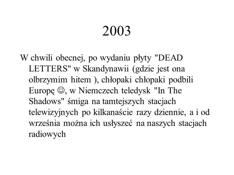 2003 W chwili obecnej, po wydaniu płyty