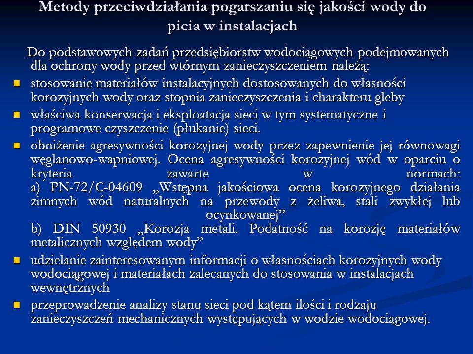 Woda z kranu Pomimo, że woda płynąca z polskich kranów uznawana jest wg.