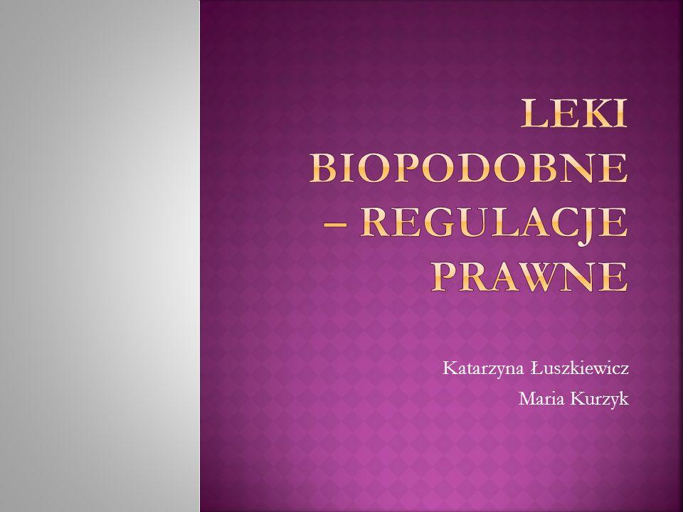 leki biologiczne, których substancję czynną stanowią substancje biologiczne otrzymane z żywych komórek leki podobne do już zarejestrowanego biologicznego produktu leczniczego – leku referencyjnego stosowane w tej samej dawce i do leczenia tej samej choroby co leki referencyjne, ale nie identyczne i zazwyczaj nie stosowane zamiennie (decyzję o leczeniu danym preparatem podejmuje lekarz, nie mogą one być zamieniane automatycznie przez farmaceutę)
