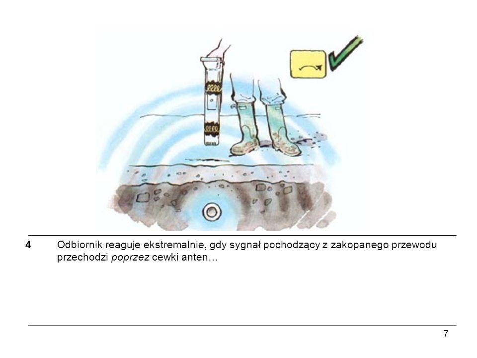 18 13Jeżeli nie ma bezpośredniego dostępu do linii docelowej, nadajnik może go indukować poprzez glebę.