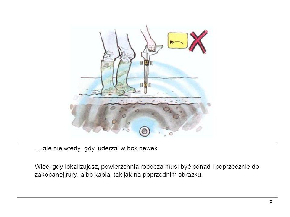 19 Sygnał indukowany przekazywany jest do więcej, niż jednej rury, czy kabla, dlatego powinien być użyty tylko wtedy, jeżeli połączenie bezpośrednie, ani założenie obejmy nie jest możliwe.