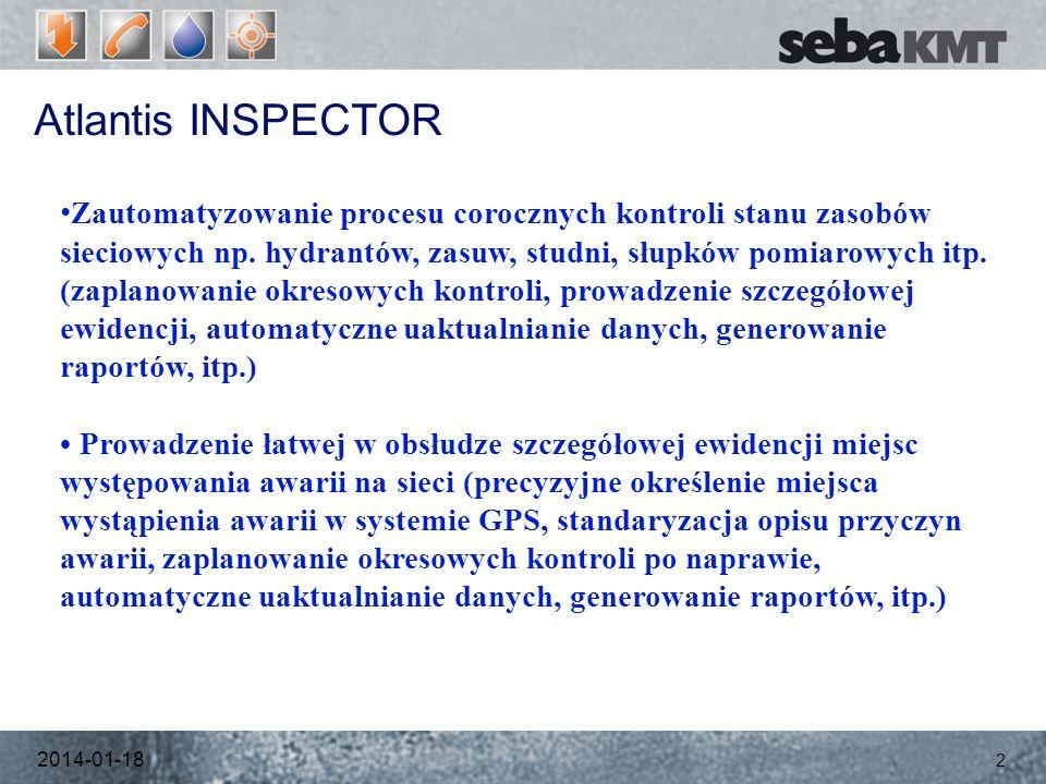 Atlantis INSPECTOR 2014-01-18 2 Zautomatyzowanie procesu corocznych kontroli stanu zasobów sieciowych np.