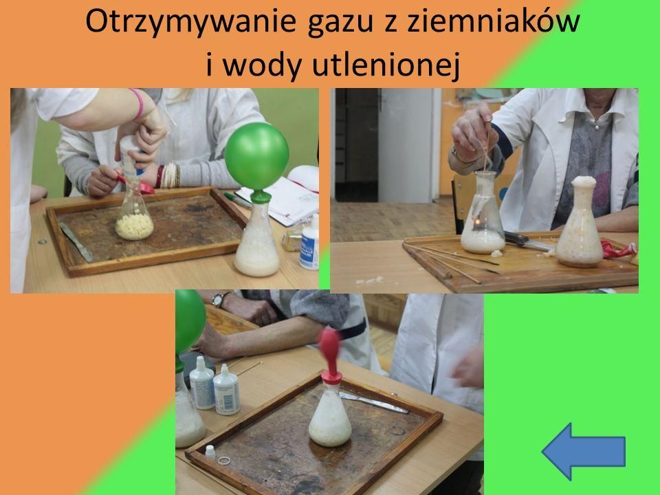 Otrzymywanie gazu z ziemniaków i wody utlenionej