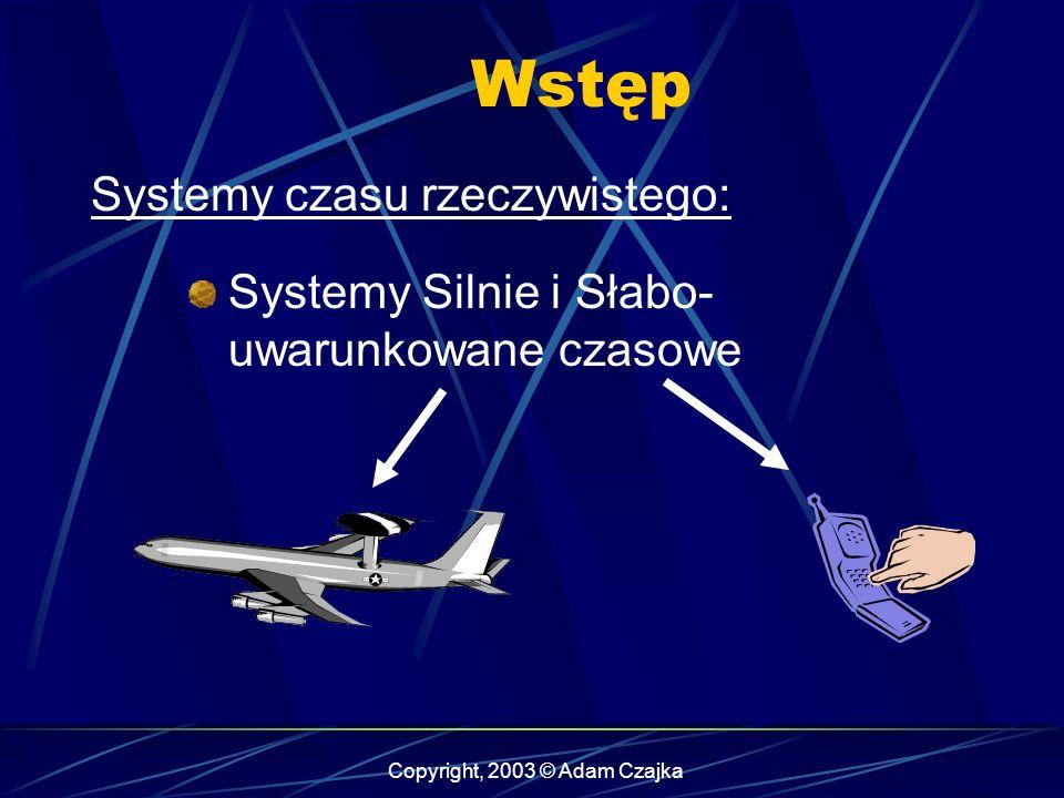Copyright, 2003 © Adam Czajka Obiekty sporadyczne Operacja Start może być aktywowana przez przerwanie Typy obiektów